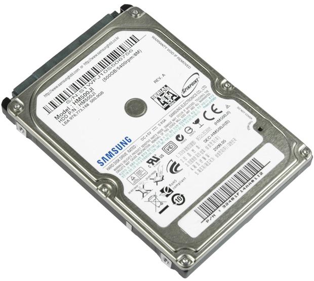 HD de Notebook Samsung de 500GB, qualquer marca pode ser usada (Foto: Reprodução)