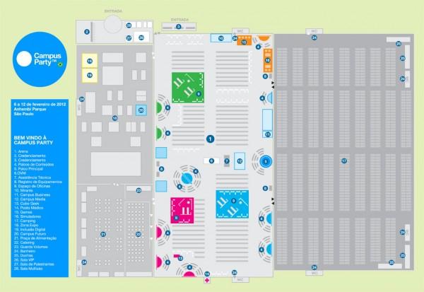 Organização libera mapa da Campus Party 2012 (Foto: Divulgação)