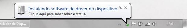 Instalando drivers do novo dispositivo