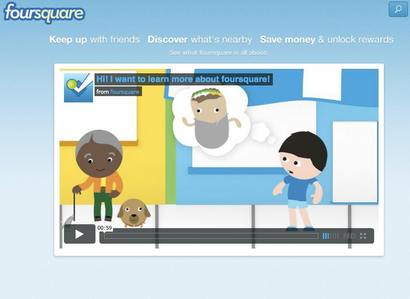 Foursquare lança vídeo animado para explicar como funciona sua rede (Foto: Reprodução/Foursquare)