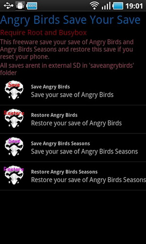 Angry Birds: Save Your Save