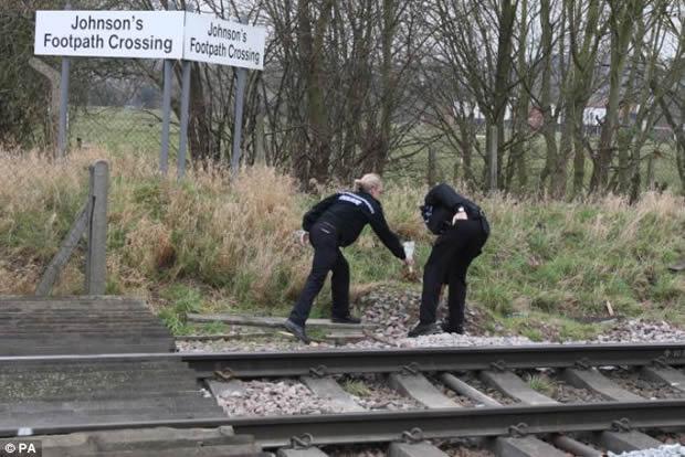 Polícia fazendo perícia no local do acidente (Foto: Reprodução)