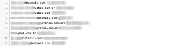Lista de e-mails (Foto: Reprodução)