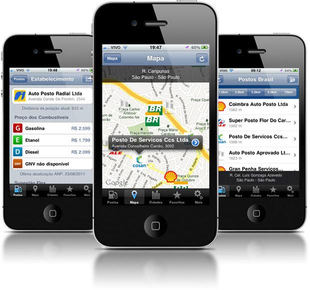 Aplicativo Posto Brasil, disponível para iPhone, é gratuito e totalmente em português (Foto: Divulgação)