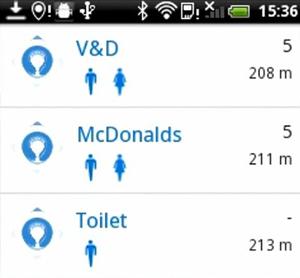 App mostra o banheiro mais próximo (Foto: Divulgação)