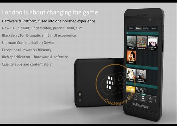 BlackBerry London, com BlackBerry 10 (Foto: CrackBerry)