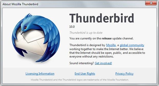 Thunderbird 10.0 (Foto: Reprodução/GHacks)