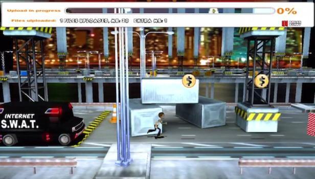 Game MegaUP tira onda com o caso Megaupload (Foto: Reprodução)