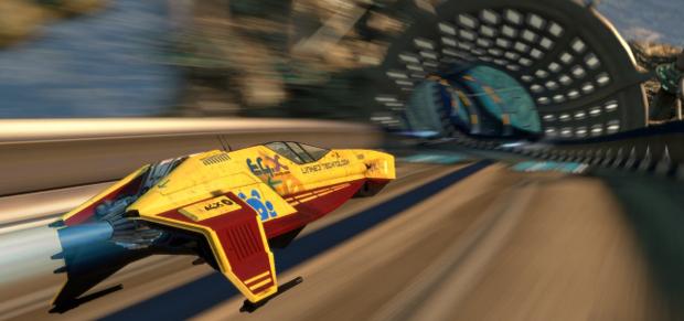 Mesmo que as naves pareçam ser rápidas, não há sensação de velocidade durante as corridas (Foto: Divulgação)