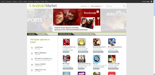 Android Market (Foto: Reprodução)