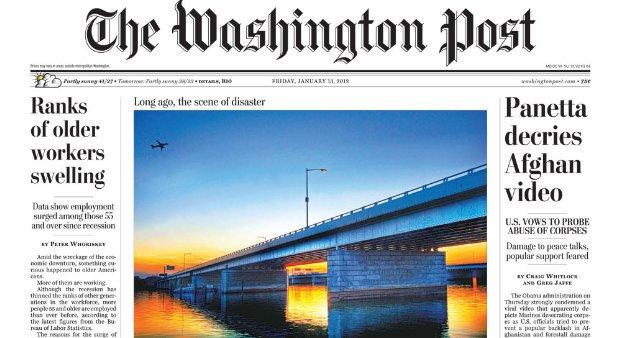 Foto com HDR na capa do Washington Post (Foto: Reprodução/Washington Post) (Foto: Foto com HDR na capa do Washington Post (Foto: Reprodução/Washington Post))