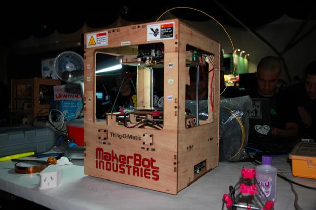 Impressora 3D americana (Foto: Allan Melo/TechTudo)