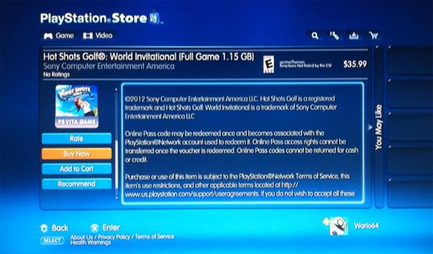 Games do Vita estão na PlayStation Store (Foto: Reprodução NeoGAF)