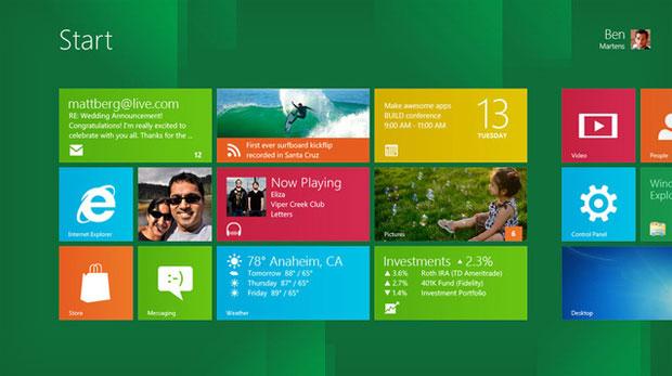 Windows 8 Consumer Preview terá diversos aplicativos pré-instalados (Foto: Divulgação)