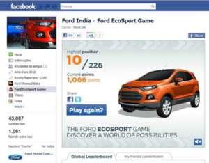 Jogo promocional da Ford EcoSport (Foto - Divulgação)