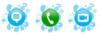 Ícones de mensagem de chat, chamada de voz e chamada de vídeo (Foto: Reprodução)