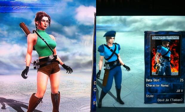 Lara Croft e Jill Valentine em SoulCalibur V (Foto: Reprodução)