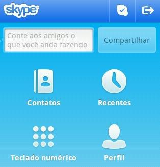Menu principal do Skype (Foto: Reprodução)