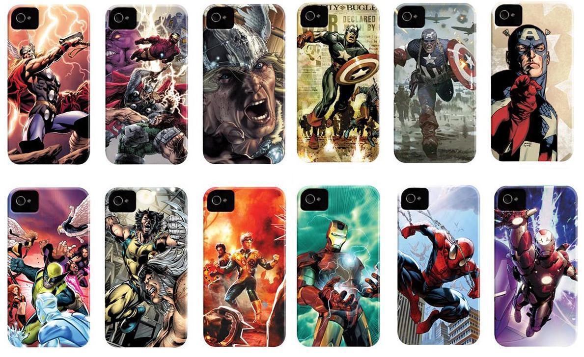 Os super-heróis da Marvel também têm versão em case (Foto: Divulgação)