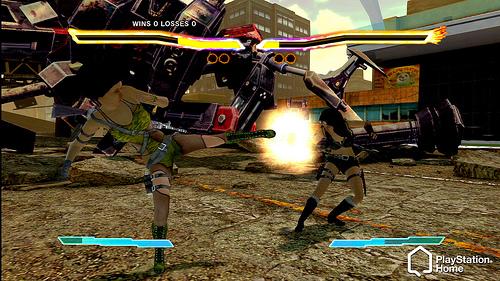 Mini-game de luta da PlayStation Home (Foto: Divulgação)