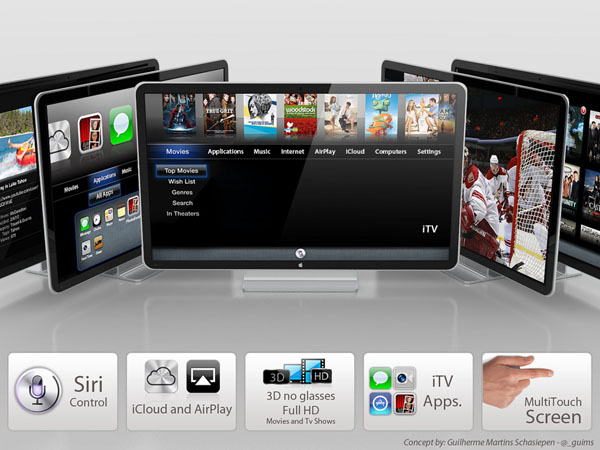 Na Internet, já há imagens conceituais da iTV, feitas por internautas (Foto: Divulgação)