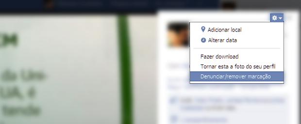 Removendo a marcação de uma foto do Facebook