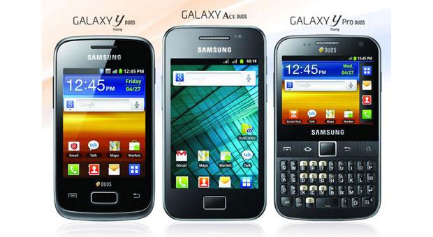 Os novos Galaxy são voltados ao consumidor de baixo orçamento e já estão disponíveis na Índia (Foto: Divulgação)