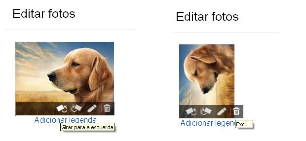 Edição de imagens no Google+ (Foto: Juliana Sousa)