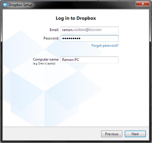 Instalando o Dropbox