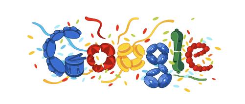 Doodle especial de Carnaval, comemorando os 3 dias oficiais de folia (Foto: Reprodução/Google)