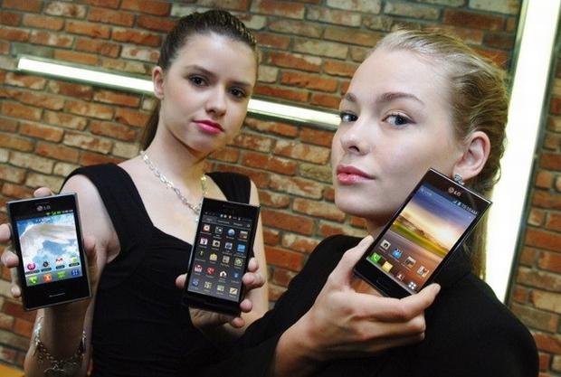 LG Optimus L3, L5 e L7, anunciados antes da MWC 2012 (Foto:  Reprodução/LG)