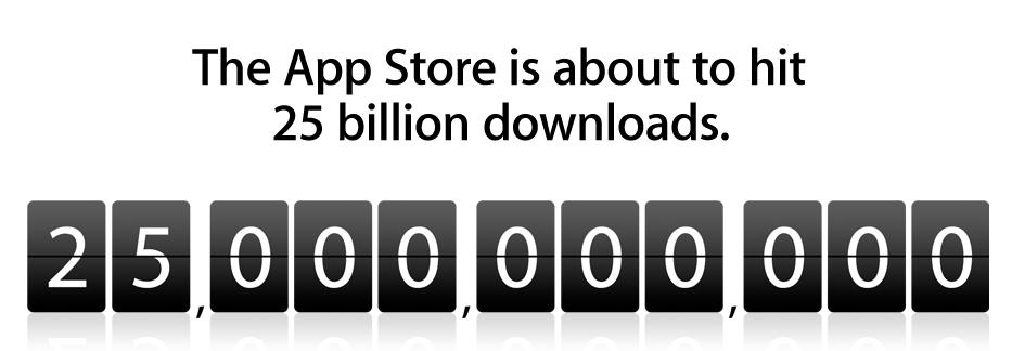 """Concurso da Apple premia usuário que fizer download número """"25 bilhões"""" (Foto: Reprodução)"""