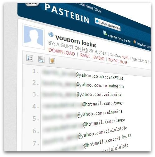 Informações de e-mail, nome de usuário e senha foram expostas na rede (Foto: Divulgação)