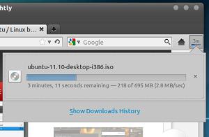 Detalhe de downloads (Foto: Reprodução/Mozilla)