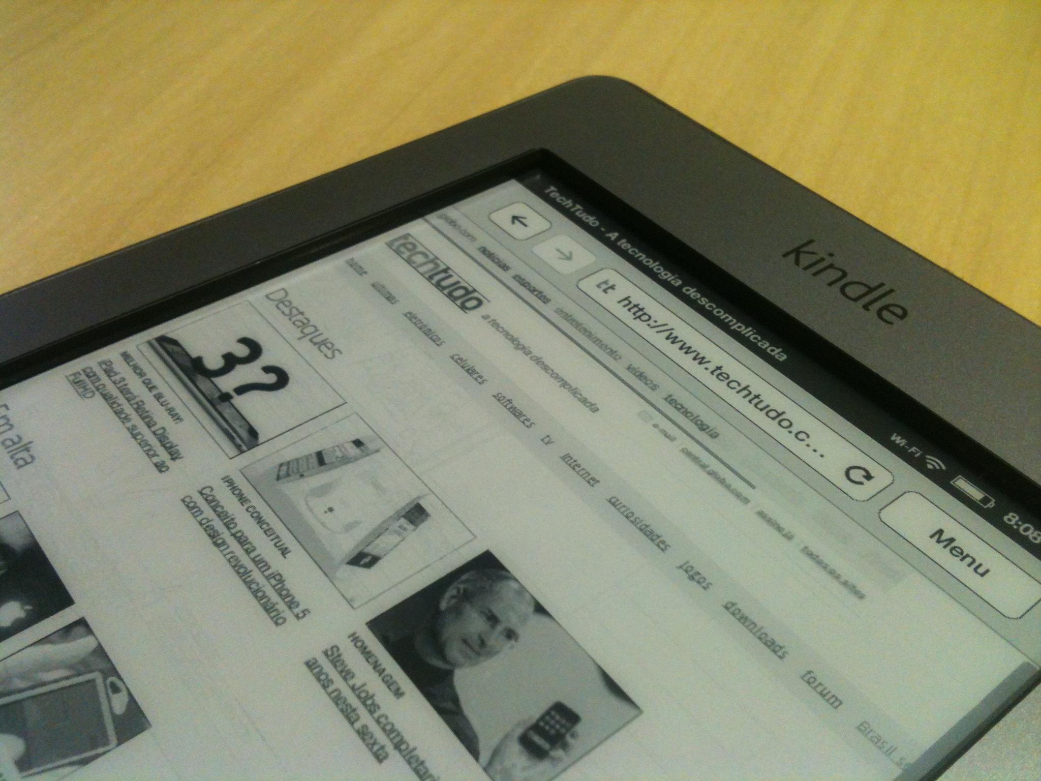 Preço do Amazon Kindle no Brasil pode ser de R$199 (Foto: Allan Melo/TechTudo)