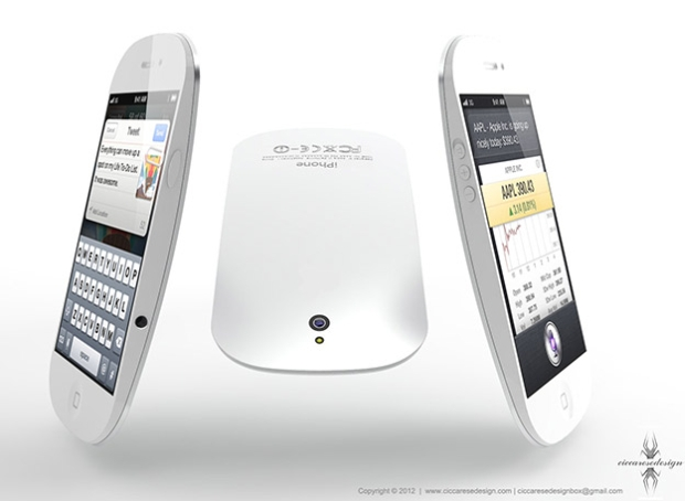 Render do iPhone 5 de Ciccarese lembra o Apple Magic Mouse (Foto: Federico Ciccarese/Ciccarese Design)