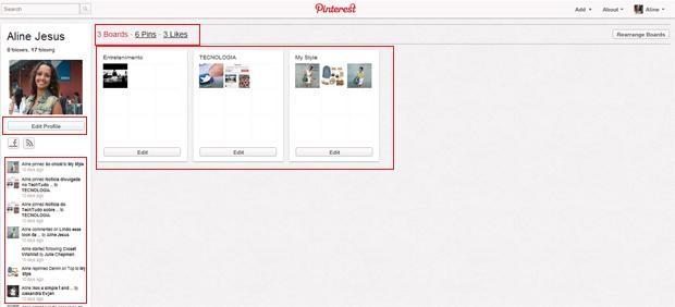 Pinterest perfil