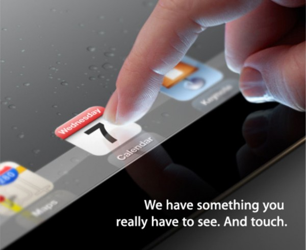 Convite enviado pela Apple para o evento do novo iPad 3 (Foto: Reprodução)