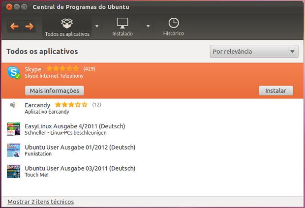 Instalando o Skype no Ubuntu (Foto: Reprodução/Helito Bijora)