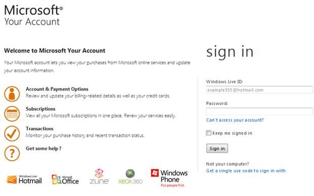 Microsoft Your Account (Foto: Divulgação)
