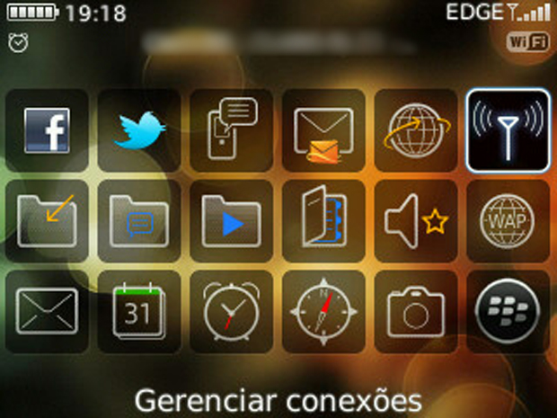 """Clique no ícone """"Gerenciar conexões"""" (Foto: Clique no ícone """"Gerenciar conexões"""")"""