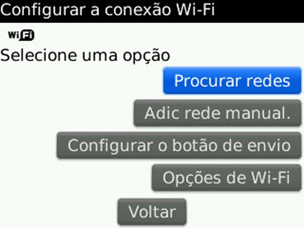 Procurar rede Wi-Fi (Foto: Procurar rede Wi-Fi)