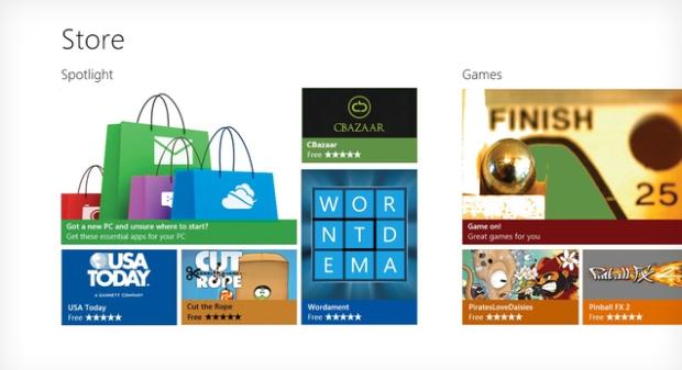 Tela de demonstração do Windows Store (Foto: Reprodução) (Foto: Tela de demonstração do Windows Store (Foto: Reprodução))