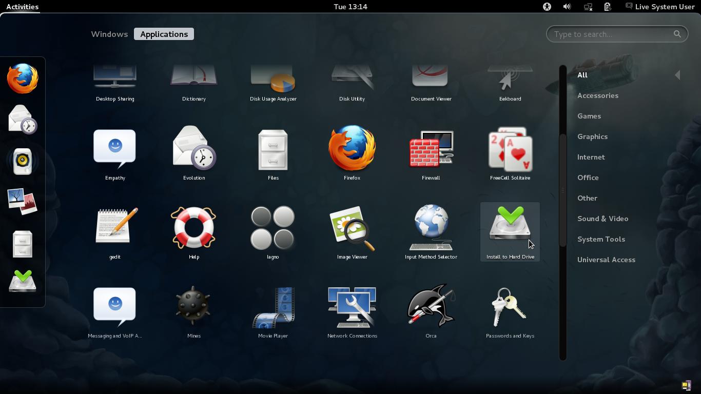 Abra o instalador do Fedora (Foto: Reprodução/Paulo Higa)