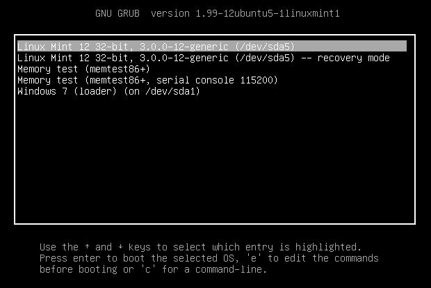 Linux Mint em dual boot com o Windows 7 (Foto: Reprodução/Helito Bijora)