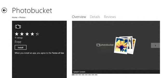 Aplicativo na Windows Store (Foto: Reprodução/Helito Bijora)