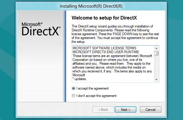 Assistente de atualização do DirectX (Foto: Reprodução/Helito Bijora)