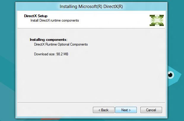 Atualizando o DirectX (Foto: Reprodução/Helito Bijora)