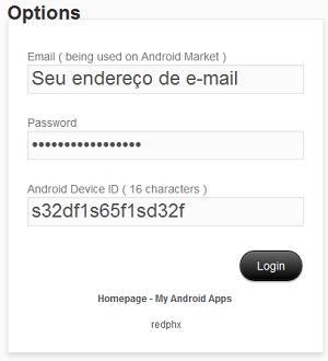 Opções do APK Downloader (Foto: Reprodução/Helito Bijora)