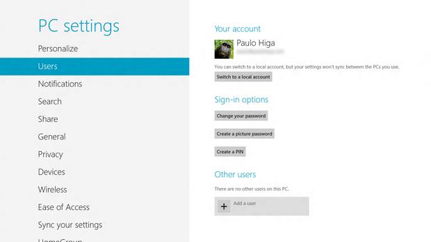 Adicionando um usuário no Windows 8 (Foto: Reprodução/Paulo Higa)